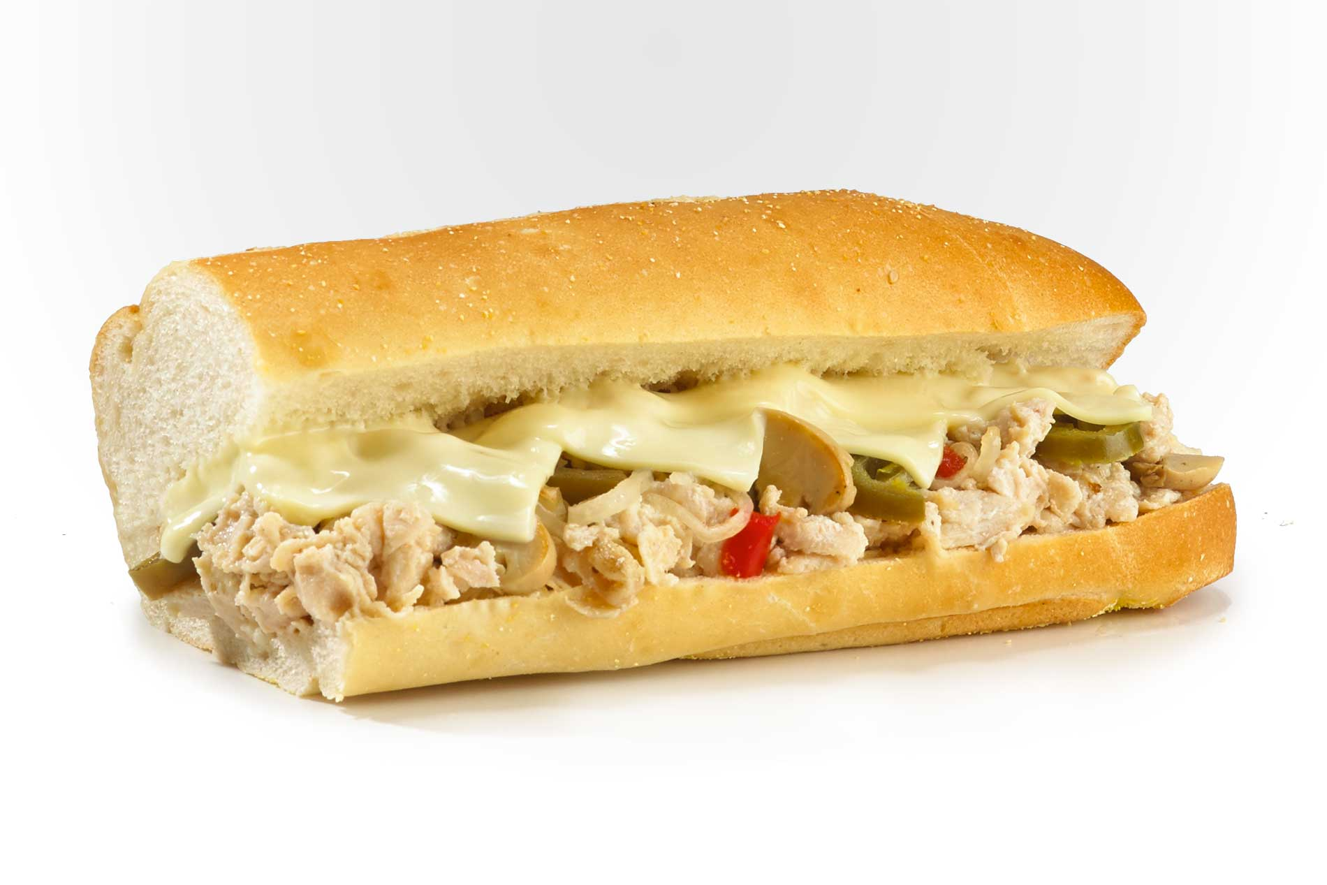 #55 Big Kahuna Chicken Cheese Steak - Fresh Grilled Hot Subs