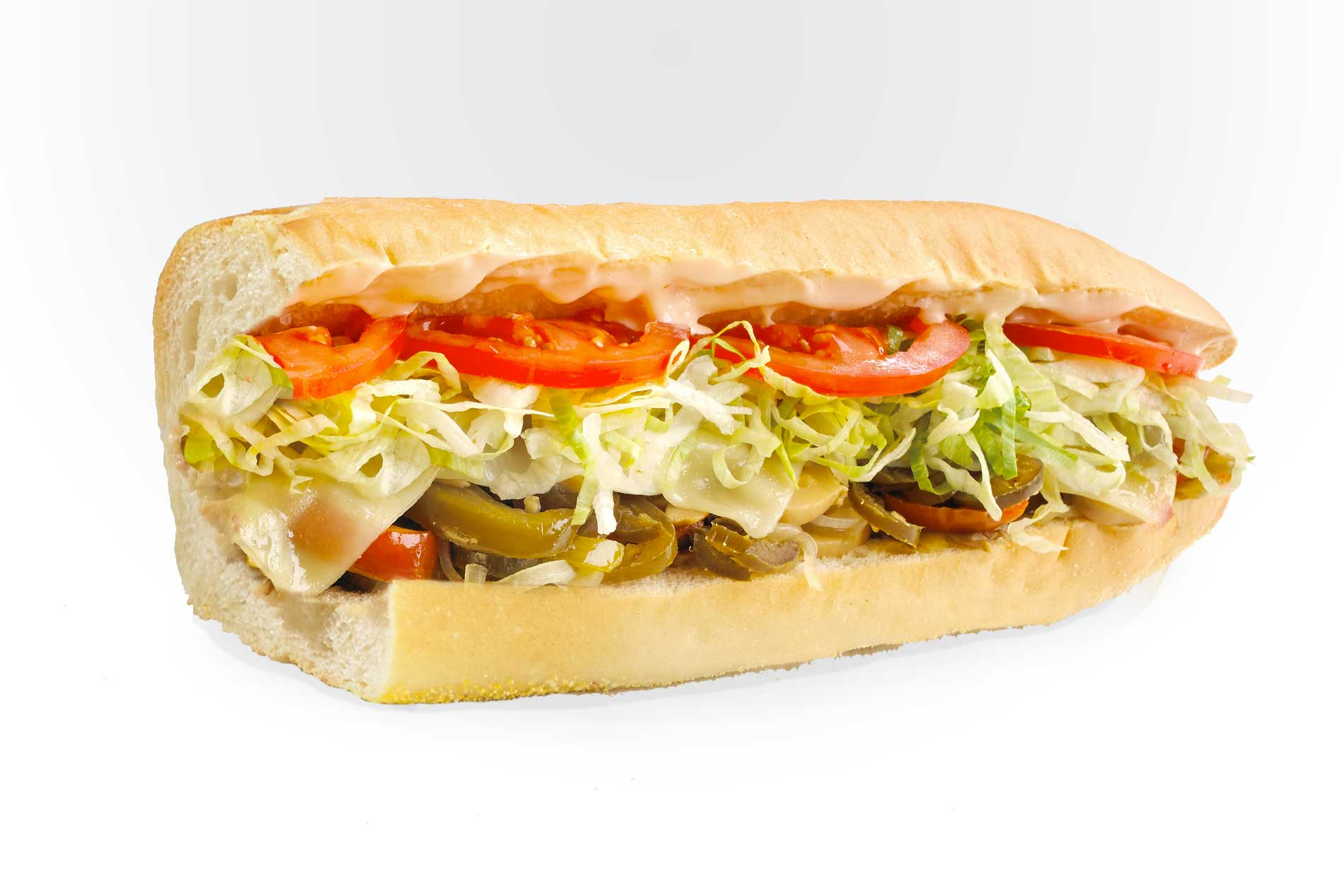 #54 Hot Veggie Sub - Fresh Grilled Hot Subs